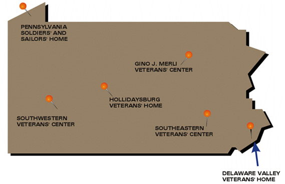 PA Veterans' Home Locator Map